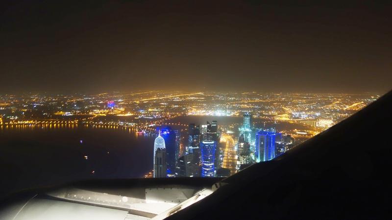 персидский залив из окна самолета