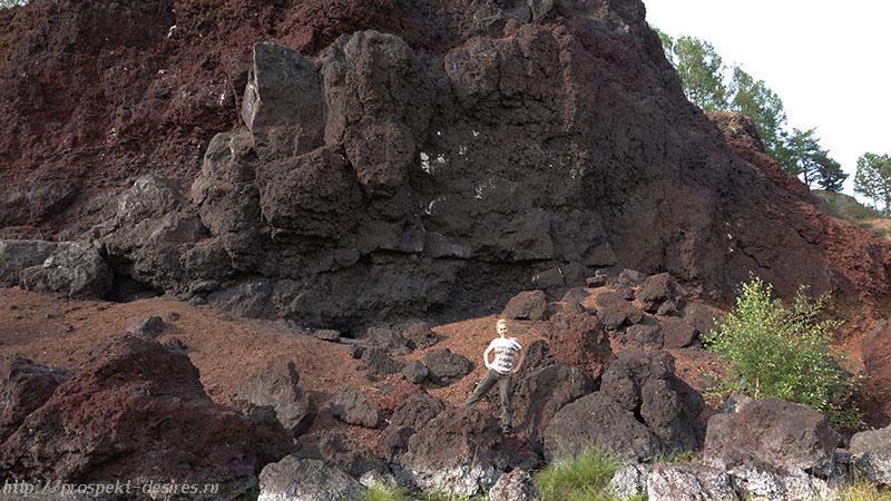 На последствиях вулканической жизнедеятельности :-)