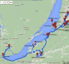 Карта путешествия по Бурятии с отметками достопримечательностей1