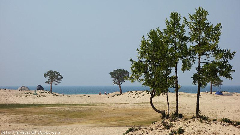 Песчаные дюны Сарайского пляжа, остров Ольхон, п. Хужир, Иркутская область