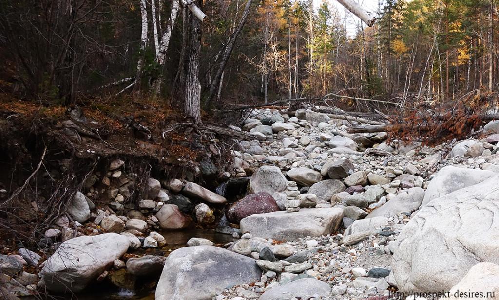 Обмелевший ручей Бухота