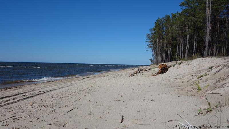 Бесконечные песчаные пляжи Энхалук, о. Байкал, республика Бурятия