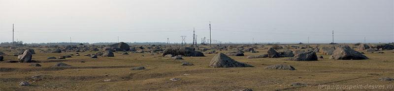 панорама сада камней