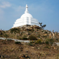 Буддийская ступа Просветления на острове Огой.
