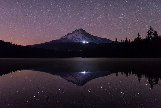 Ночной пейзаж в штате Орегон