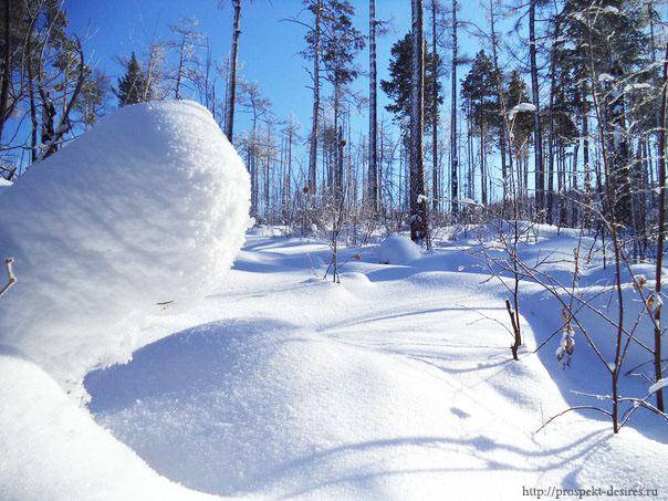 Зимние пейзажи Олхинского плато