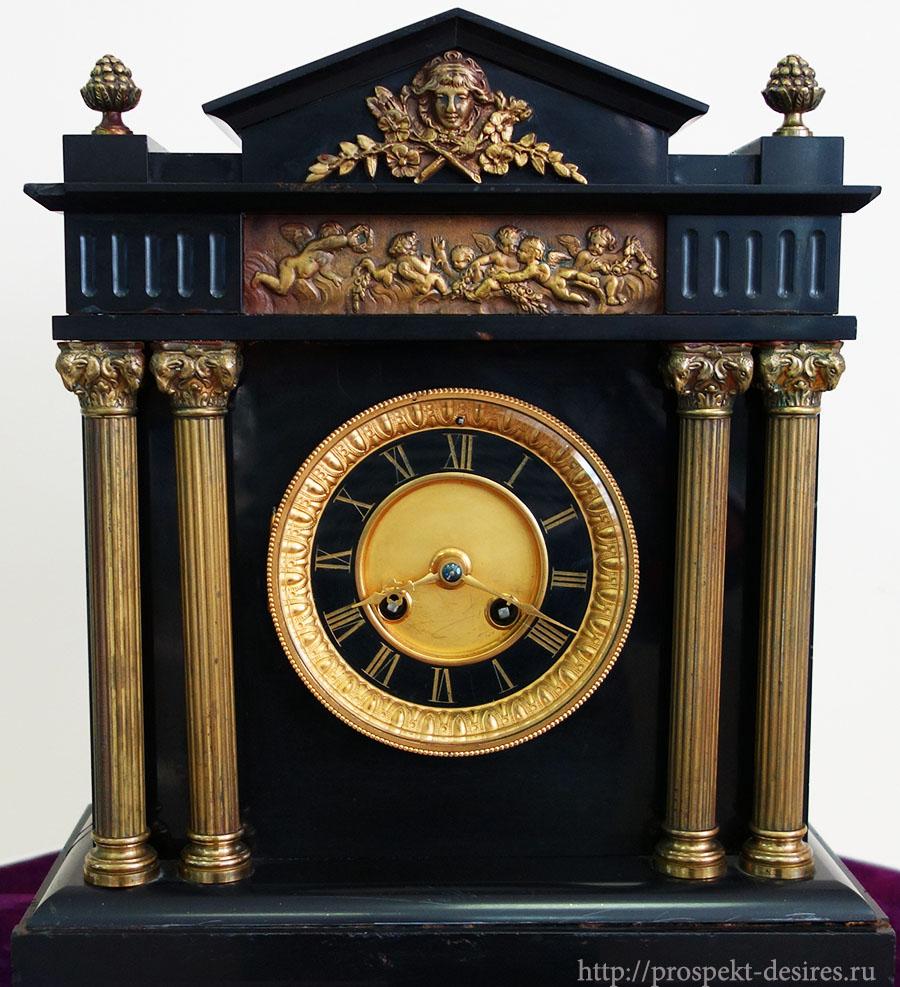 """Часы каминные, 19 век, Франция, компания """"Марти и Ко"""""""