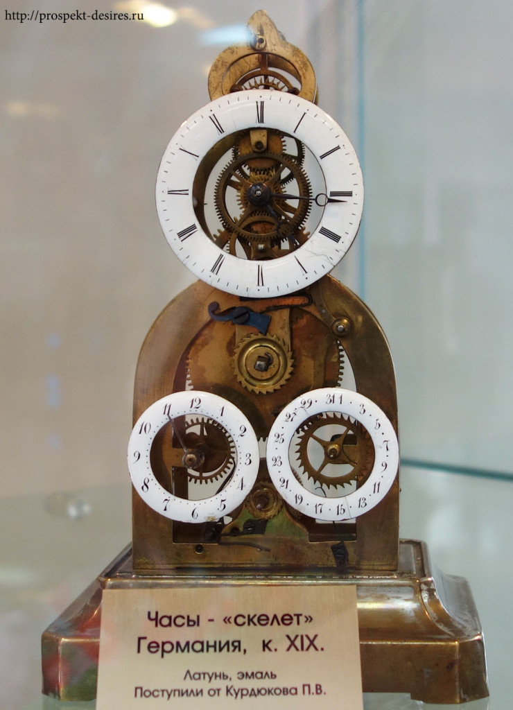 """Часы """"Скелет"""", Германия, 19 век"""