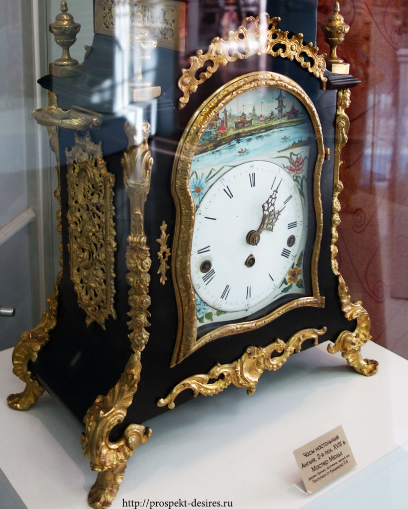 Часы настольные, 18 век, Англия