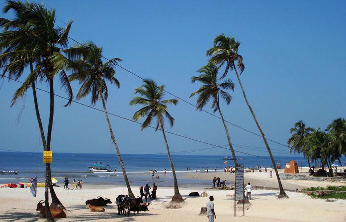Пляж в Колве