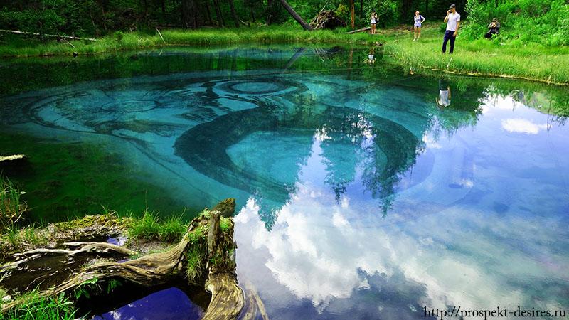 Гейзерное озеро Акташ