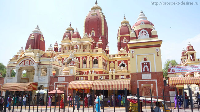 Храм Лакшми золотой треугольник Индии