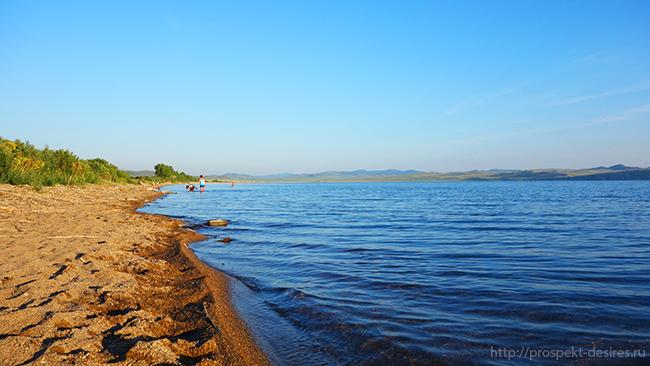 озеро Иткуль на машине
