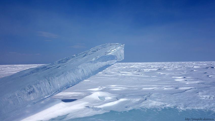 Зимний Байкал льдина