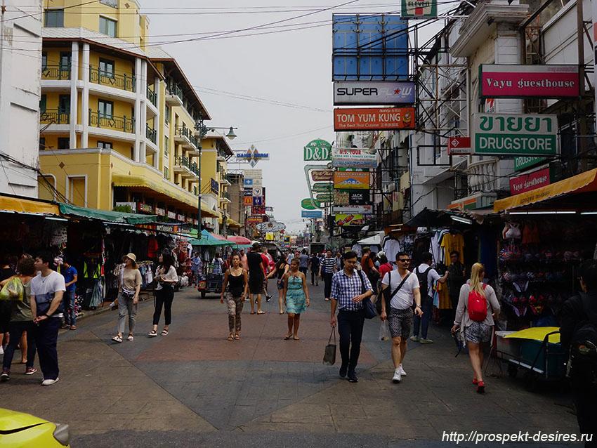 Коасан роуд - главная туристическая улица Бангкока