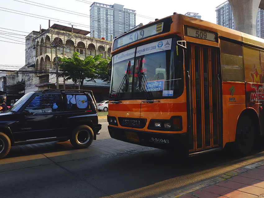 общественный транспорт автобусы бангкока