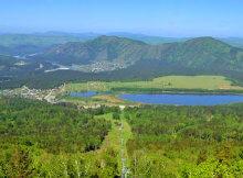 вид на озеро Манжерокское