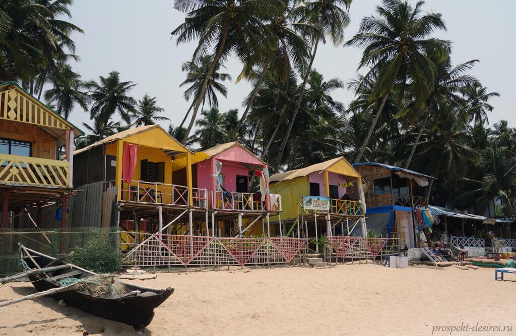 пляжи в Индии на Гоа