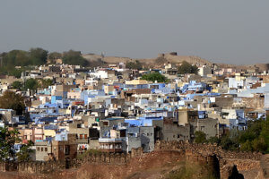 Джодхпур в Индии вид с форта
