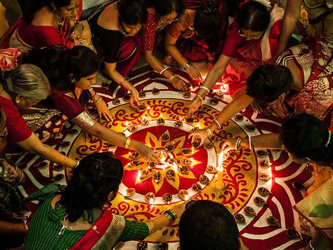 празднование Дивали Индия фестиваль