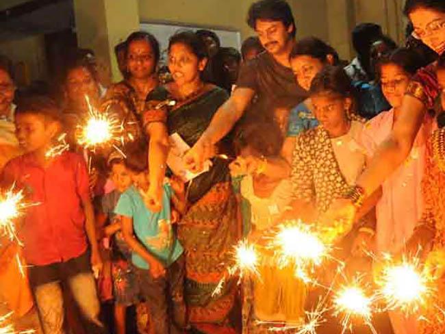 огни Дивали в Индии