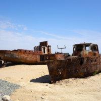 Высохшее Аральское море, Нукус и Муйнак